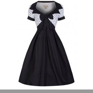 Delilah' 1950s Box Pleat Cotton Swing Dress SZ 4